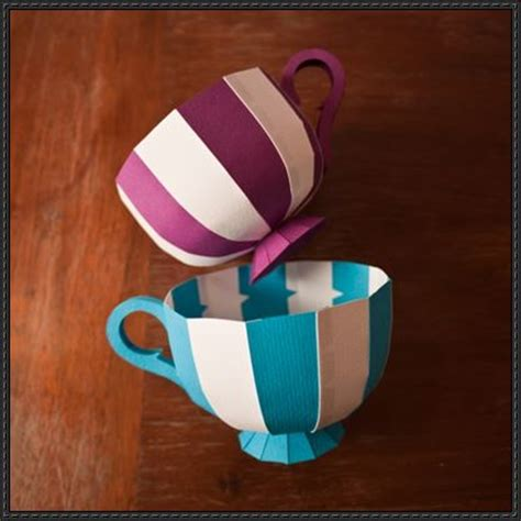 paper cup craft papercraftsquare new paper craft tea cup paper