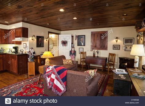 american decor great room interior with early american decor usa stock