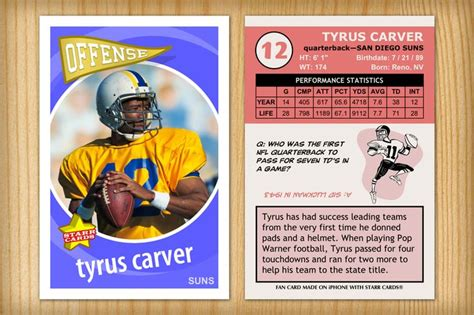 make your own football cards pin by custom sports cards on football season