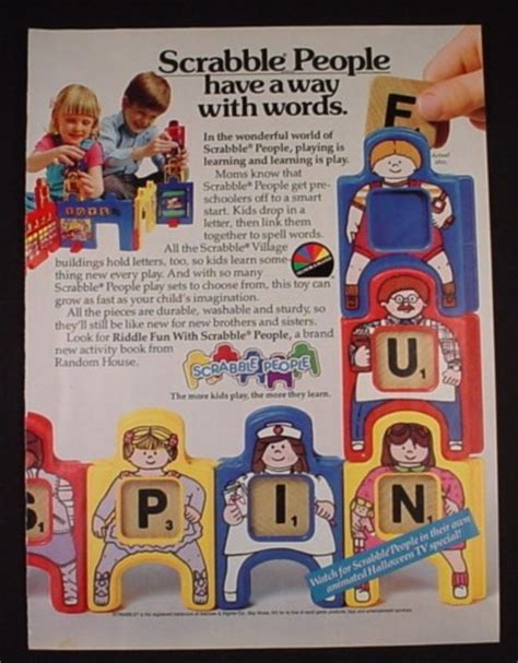 scrabble for one person magazine ad for scrabble toys selchow righler