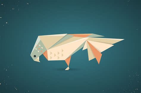 origami pigeon colourful origami pigeon or dove illustrations on