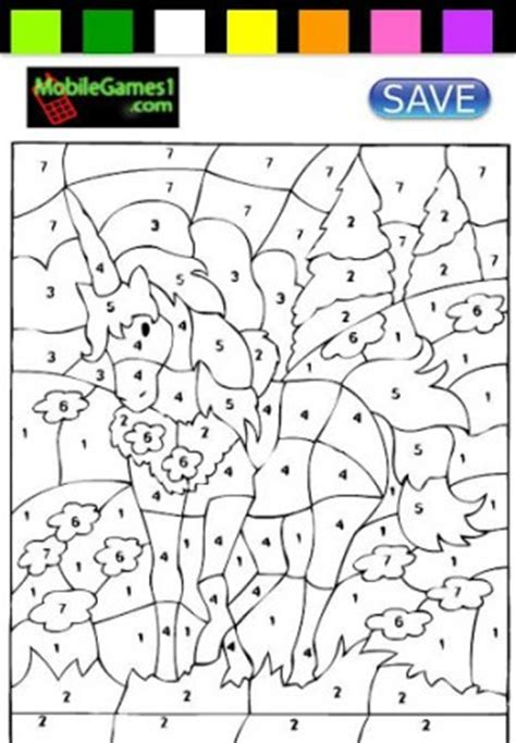 download unicorn coloring by numbers for android appszoom