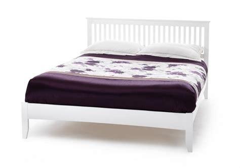 small white wooden bed frame serene freya 4ft small white wooden bed frame by