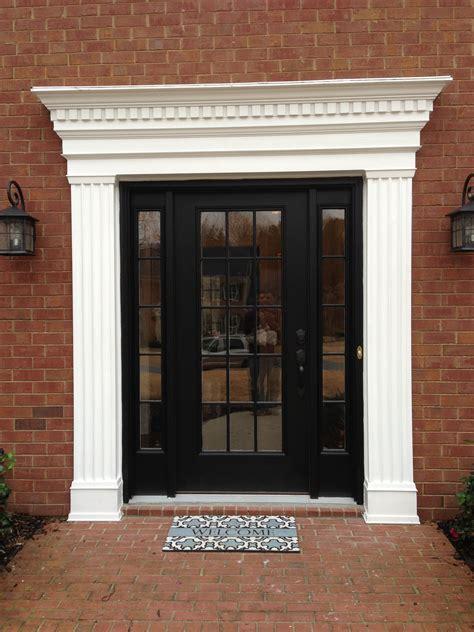 exterior door window exterior window trim brick