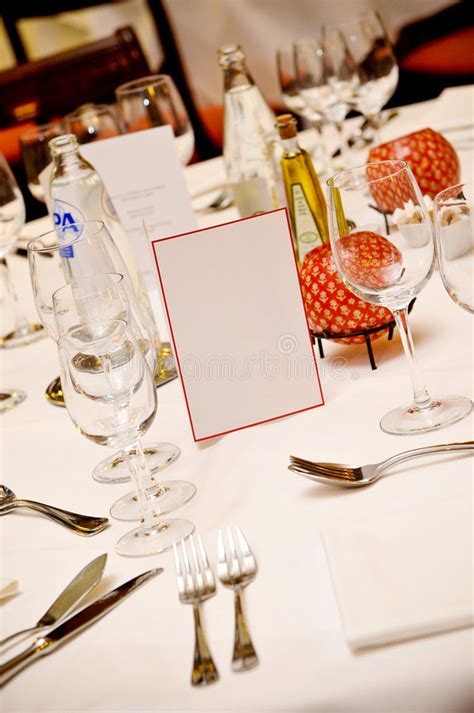 fancy place setting fancy place setting on table royalty free stock image