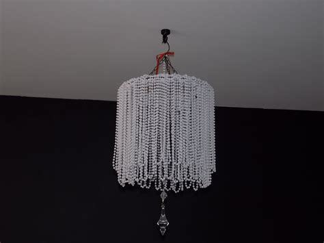 how to make a bead chandelier diy beaded chandelier cheap easy