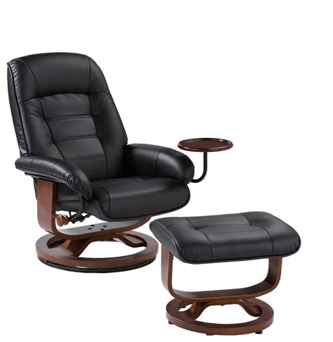 modern leather chair and ottoman hemphill leather recliner and ottoman black