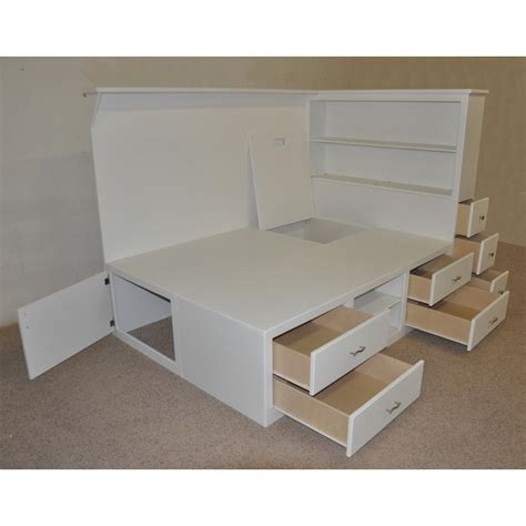 white bed frame with drawers white bed frame with drawers