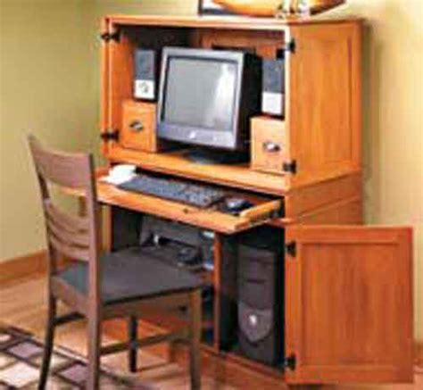 cabinet computer desk plans to build hideaway computer desk cabinet pdf plans