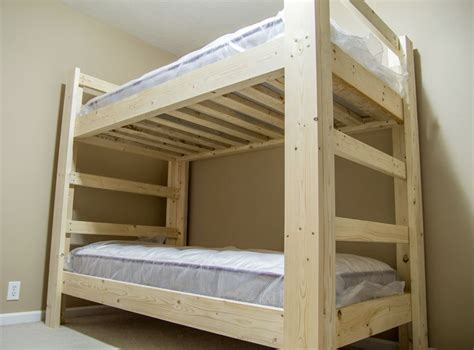 bunk beds building plans bunk bed plans 2x6 modern diy wood projects