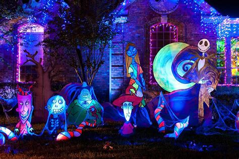 nightmare before decorated house decorations and lights to amaze and inspire mr