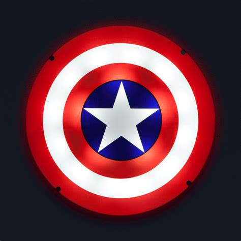 america lights captain america shield light up wall with sound