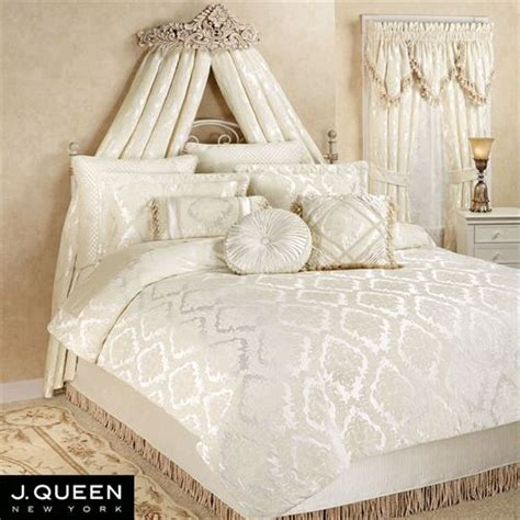 ivory comforter sets estate chenille medallion comforter bedding by j new