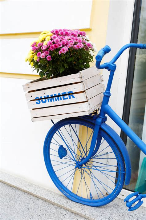 bicycle flower planter 33 bicycle flower planters for the garden or yard