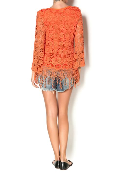 origami with lined paper origami lined crochet tunic top from skaneateles by cate
