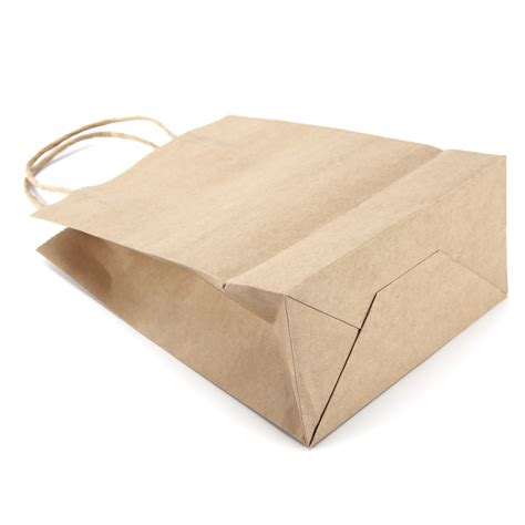 twisted craft paper brown kraft craft twisted handle paper carrier bags