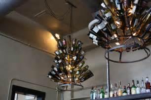 wine bottles chandelier diy how to recycle wine bottle into chandelier homesfeed