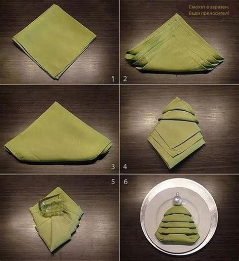 servietten falten weihnachtsbaum tree napkin folding tutorial pictures photos