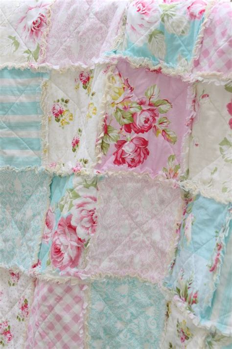 shabby chic nursery bedding crib rag quilt baby crib bedding shabby chic nursery