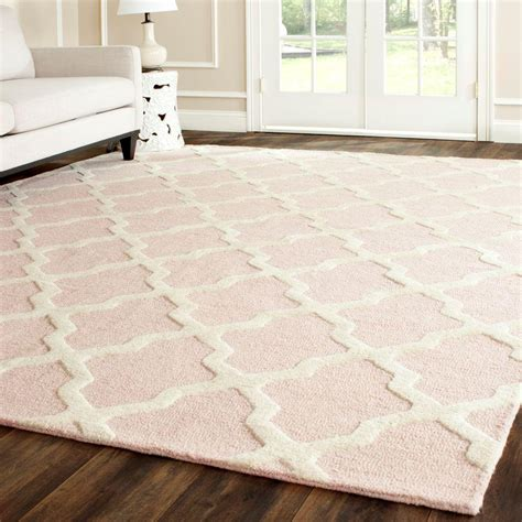 pink area rug safavieh cambridge light pink ivory 9 ft x 12 ft area