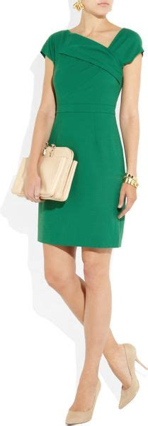 j crew origami dress j crew origami pleated woolcrepe dress in green emerald