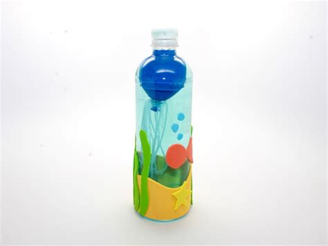 water bottle crafts for jellyfish in a bottle science experiment for
