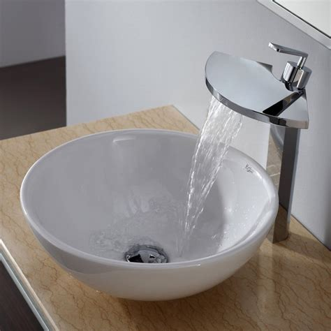 modern bathroom sink kraus c kcv 141 14800ch white ceramic sink and