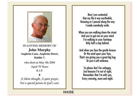 how to make a memorial card bolton print ie ireland in memoriam cards memorial