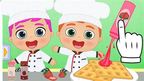 juegos de cocina con bebes beb 201 s alex y lily aprende a cocinar gofres con los beb 233 s