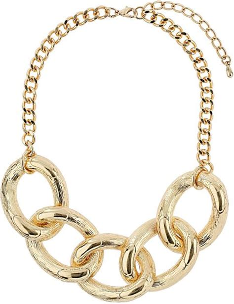large link chain for jewelry topshop large link chain necklace in gold lyst