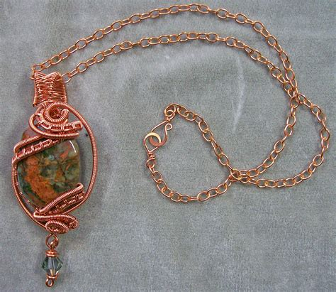 copper wire for jewelry green opal copper wire wrapped pendant jewelry by