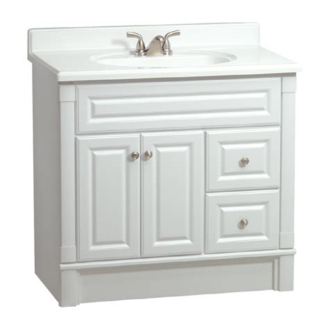 lowes bathroom vanities white shop estate by rsi southport white casual bathroom vanity