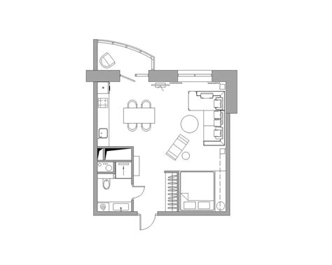 bachelor flat floor plans apartment designs for a small family and a