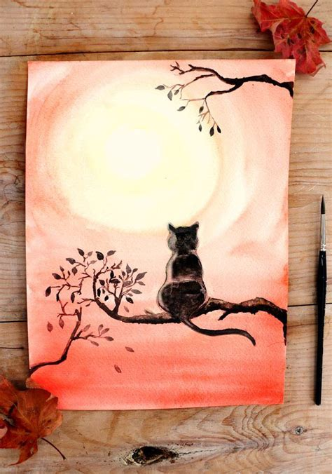 simple cat painting ideas 25 unique easy watercolor ideas on easy