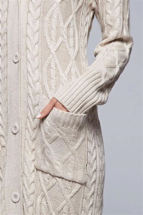 cable knit sweater cardigan lovestitch cable knit maxi cardigan from california by