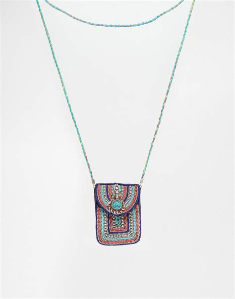 beaded pouches asos asos beaded traveller pouch necklace at asos