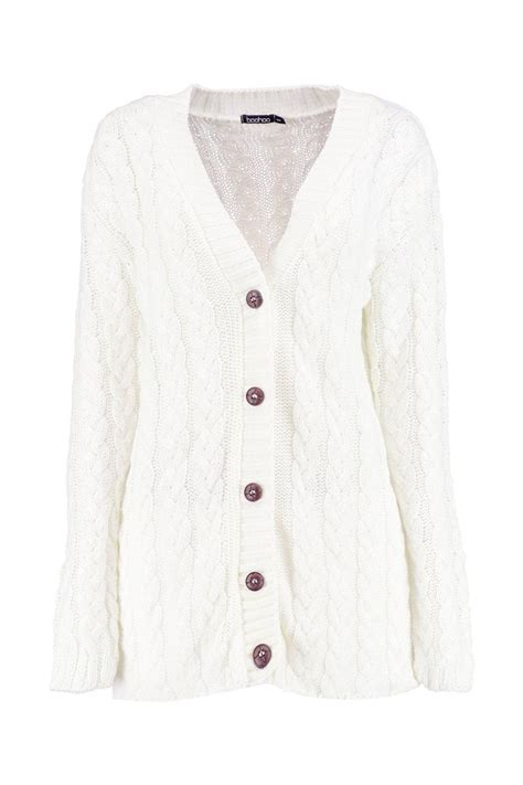 womens cable knit cardigan boohoo womens cable knit cardigan ebay