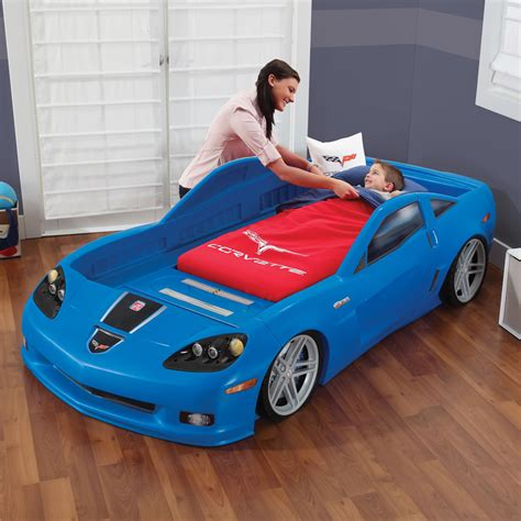 corvette toddler to bed corvette 174 toddler to bed with lights blue