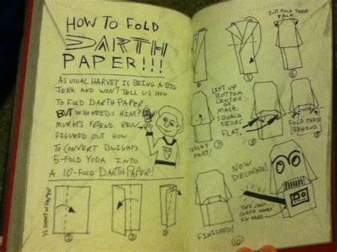 how to fold an origami book 10 fold darth paper w instrux