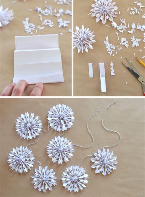 snowflake paper crafts handmade paper snowflake garland 3d