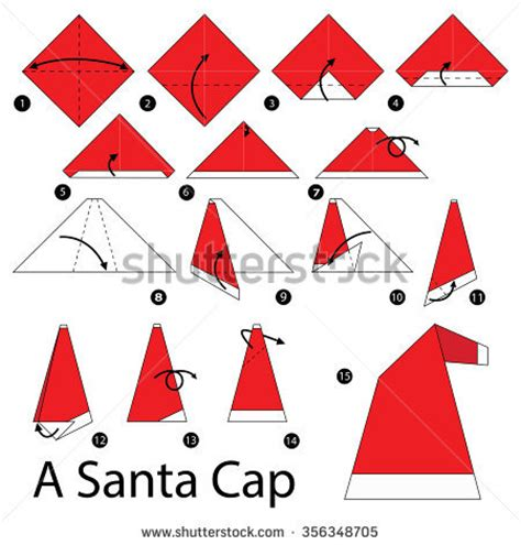 origami santa hat origami stock images royalty free images