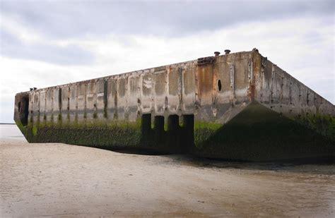 port artificiel d arromanches dans le calvados