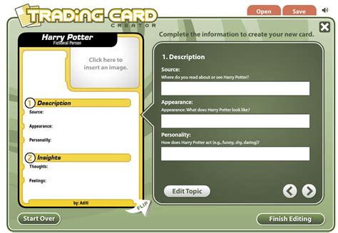 make a trading card create trading cards teachbytes