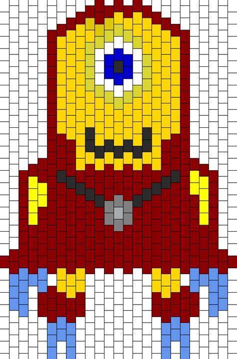 minion bead pattern ironman minion bead pattern peyote bead patterns