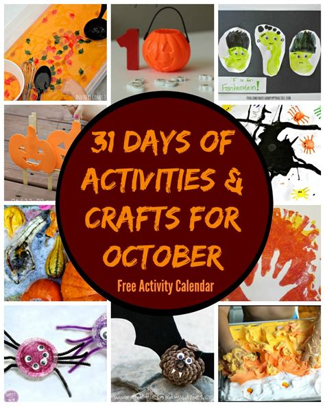 october crafts for 31 days of october crafts activities free activity