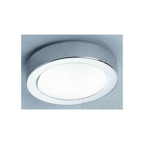 bathroom flush ceiling light franklite cf1290 chrome flush bathroom ceiling light at