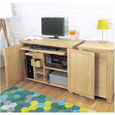 hideaway desks home office aston oak contemporary furniture home office