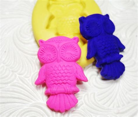rubber sts for polymer clay owl mold silicone rubber push mold for resin wax