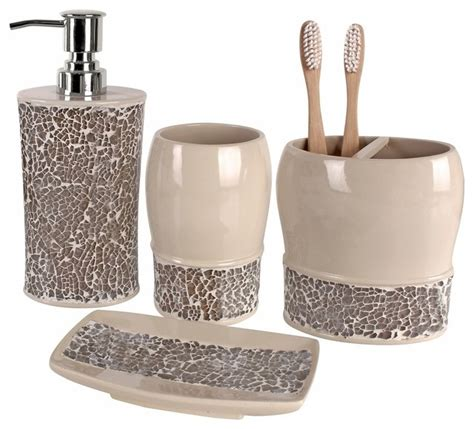 bathroom accessory set broccostella 4 bath accessory set contemporary