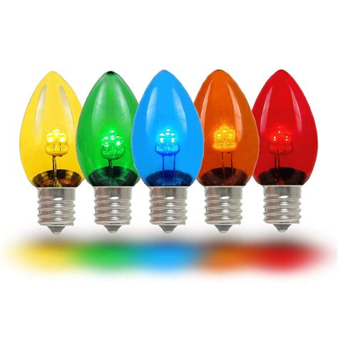 colored led lights multi colored led c7 glass bulbs novelty lights